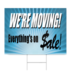 Moving Sale Sign Signstoyou Com