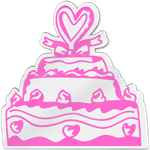 Wedding Cake Shaped Magnet