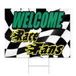 Welcome Race Fans Sign