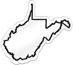 West Virginia Shaped Magnet