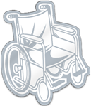 Wheelchair Shaped Magnet