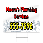 White Plumbing Services Sign