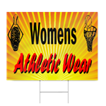 Womens Athletic Wear Sign